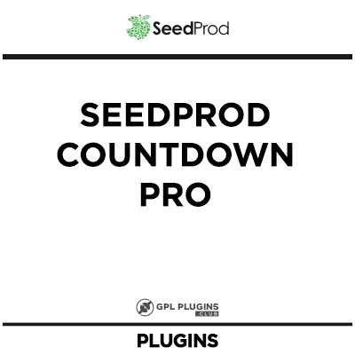 SeedProd Countdown Pro