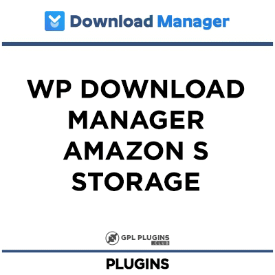 WP Download Manager Amazon S Storage