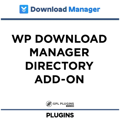 WP Download Manager Directory Add-on