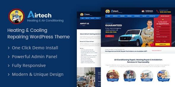 Airtech - Plumber WordPress theme