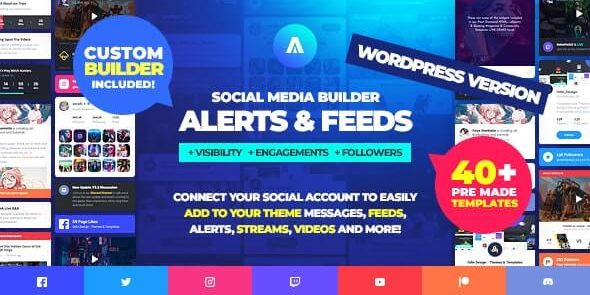 Asgard - Social Media Alerts & Feeds WordPress Builder - Facebook
