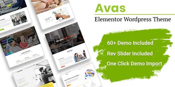 Avas - Multi-Purpose Elementor WordPress Theme