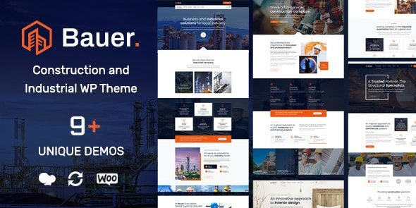 Bauer - Construction and Industrial WordPress Theme