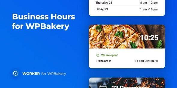 Business Hours for WPBakery - Worker addon