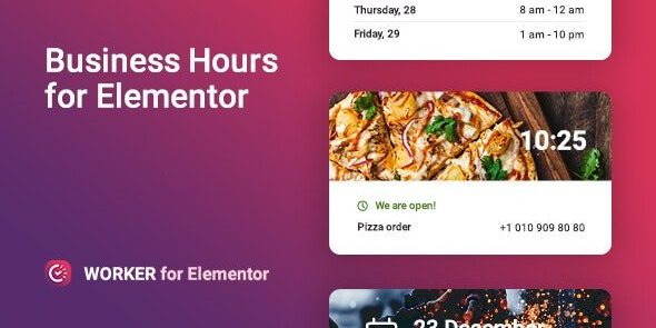 Worker - Business hours widget for Elementor