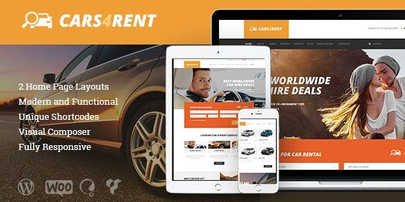 Cars4Rent - Auto Rental & Taxi Service WordPress Theme