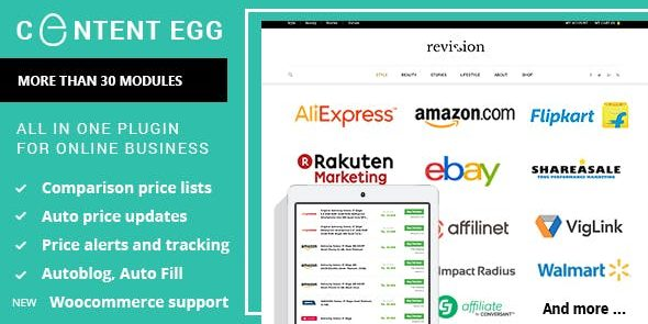 Content Egg Pro - all in one plugin for Affiliate