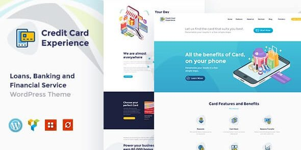 Credit Card Experience - Loan Company and Online Banking WordPress Theme