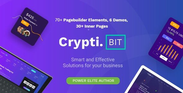 CryptiBIT - Technology Cryptocurrency ICO - IEO Landing Page theme