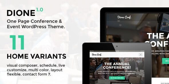 Dione - Conference & Event WordPress Theme