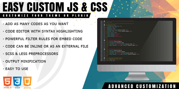 Easy Custom JS and CSS for WordPress