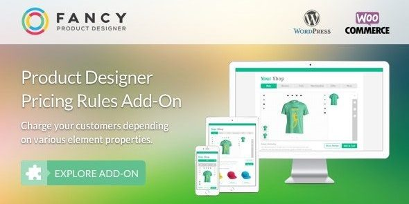 Fancy Product Designer Pricing Add-On - WooCommerce WordPress