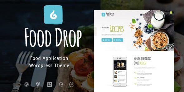 Food Drop - Meal Ordering & Delivery Mobile App WordPress Theme