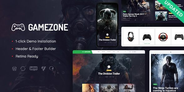 Gamezone - Video Gaming Blog & Esports Store WordPress Theme