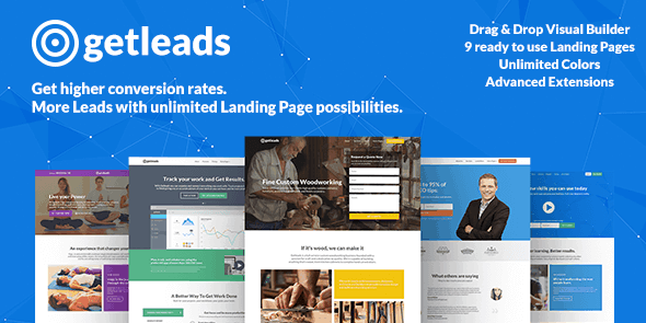 Getleads High-Performance Landing Page - WordPress Theme