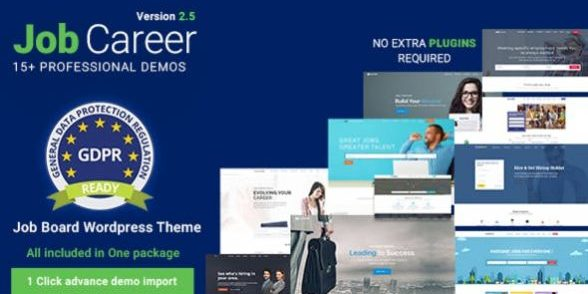 JobCareer - Job Board Responsive WordPress Theme
