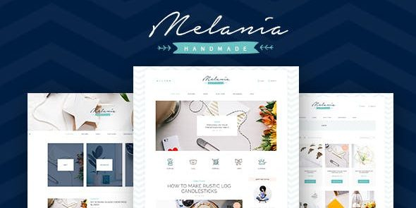 Melania - Handmade Blog & Shop WordPress Theme