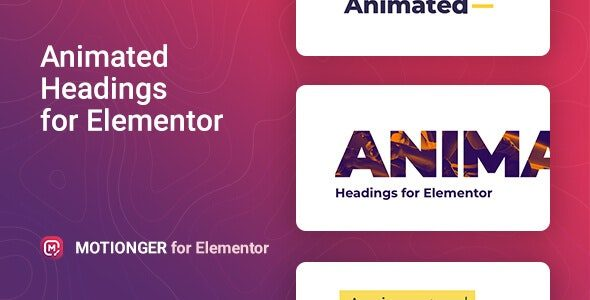 Motionger - Animated Heading for Elementor