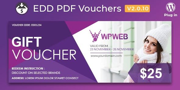 Easy Digital Downloads: PDF Vouchers