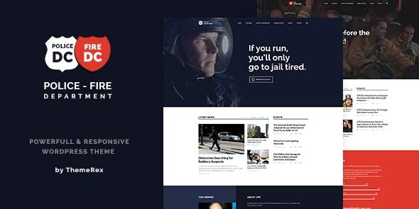Police & Fire - Department and Security Business WordPress Theme