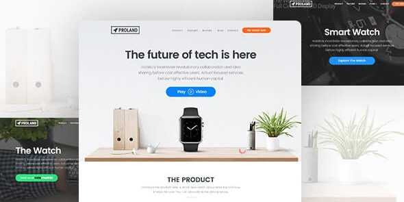 Proland - WordPress Product Landing Page Theme