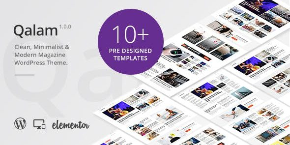 Qalam - NewsPaper and Magazine WordPress Theme