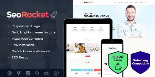 Seo Rocket - Advertising & Marketing WordPress Theme
