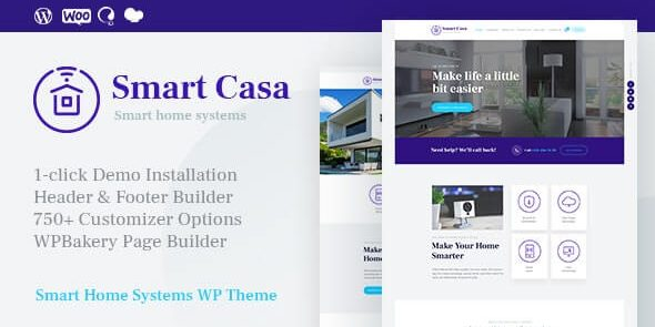 Smart Casa - Home Automation & Technologies WordPress Theme