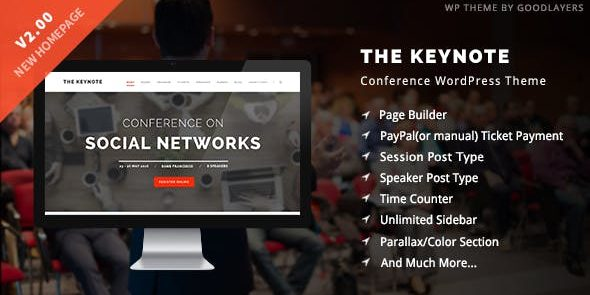 The Keynote - Conference - Event - Meeting WordPress Theme