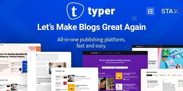 Typer - Amazing Blog and Multi Author Publishing Theme