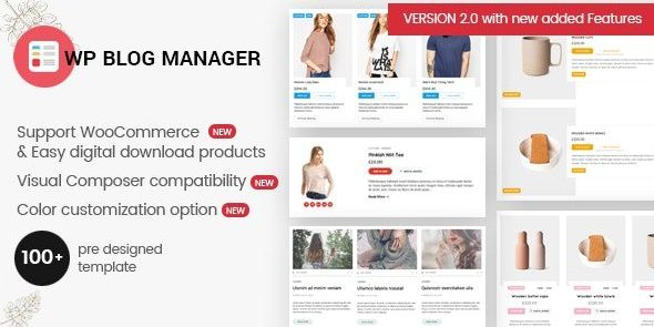 WP Blog Manager - Plugin to Manage - Design WordPress Blog