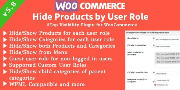 WooCommerce Hide Products - Products