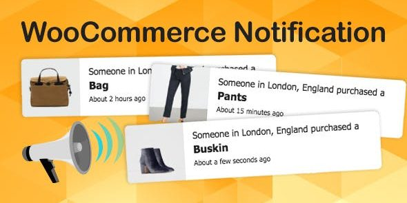 WooCommerce Notification - Boost Your Sales - Live Feed Sales - Recent Sales Popup - Upsells