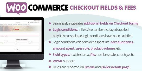 WooCommerce Checkout Fields & Fees