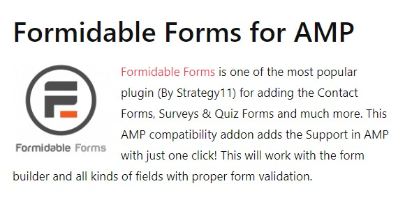 AMP Formidable Forms