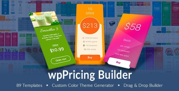 WP Pricing Table Builder - Responsive Pricing Plans Plugin for WordPress