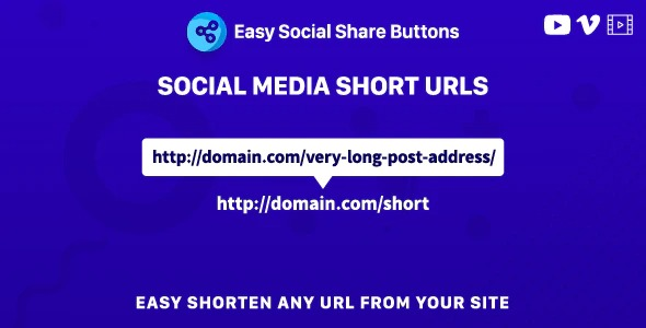 Social Media Short URLs -Add-on for Easy Social Share Buttons