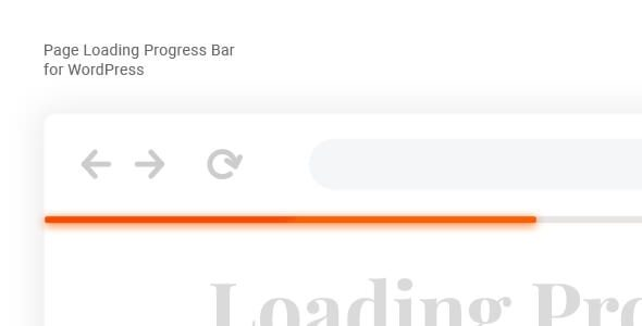 Laser - Page Loading Progress Bar for WordPress