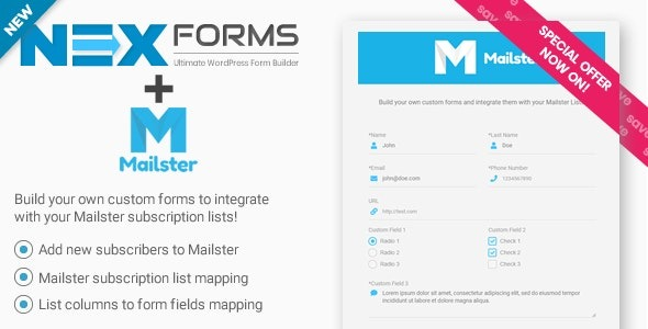 Mailster for NEX-Forms