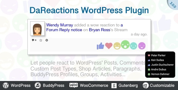 Reactions - WordPress Plugin