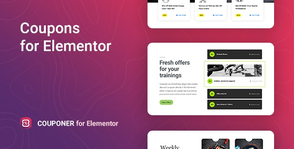 Couponer - Discount Coupons for Elementor