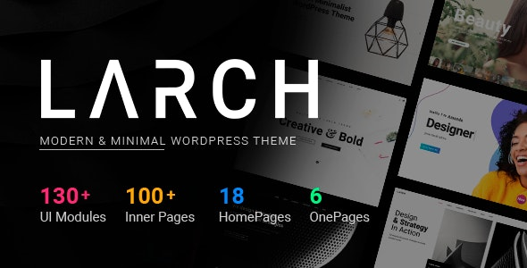 Larch - Responsive Minimal Multipurpose WordPress Theme