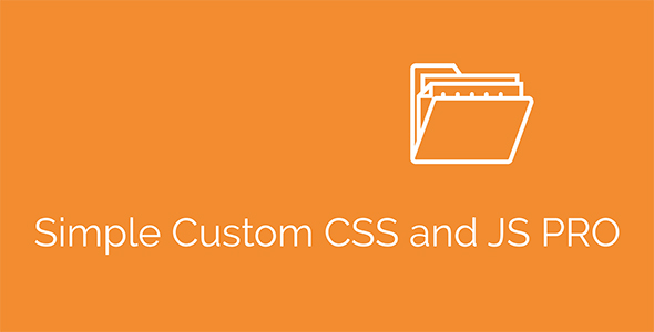 Simple Custom CSS and JS PRO