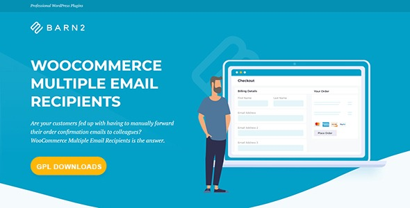 WooCommerce Multiple Email Recipients - By Barn2 Media