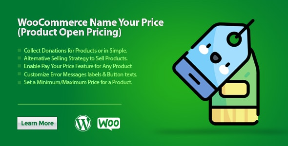 WooCommerce Name Your Price -  Product Open Pricing