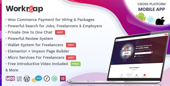 Workreap - Freelance Marketplace and Directory Theme