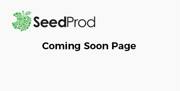 SeedProd Coming Soon Page
