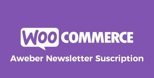 WooCommerce Aweber Newsletter