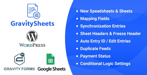 Gravity Sheets - Gravity Forms Google Spreadsheet Addon