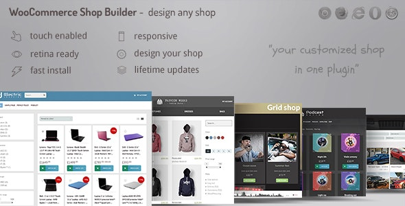 WooCommerce shop page builder